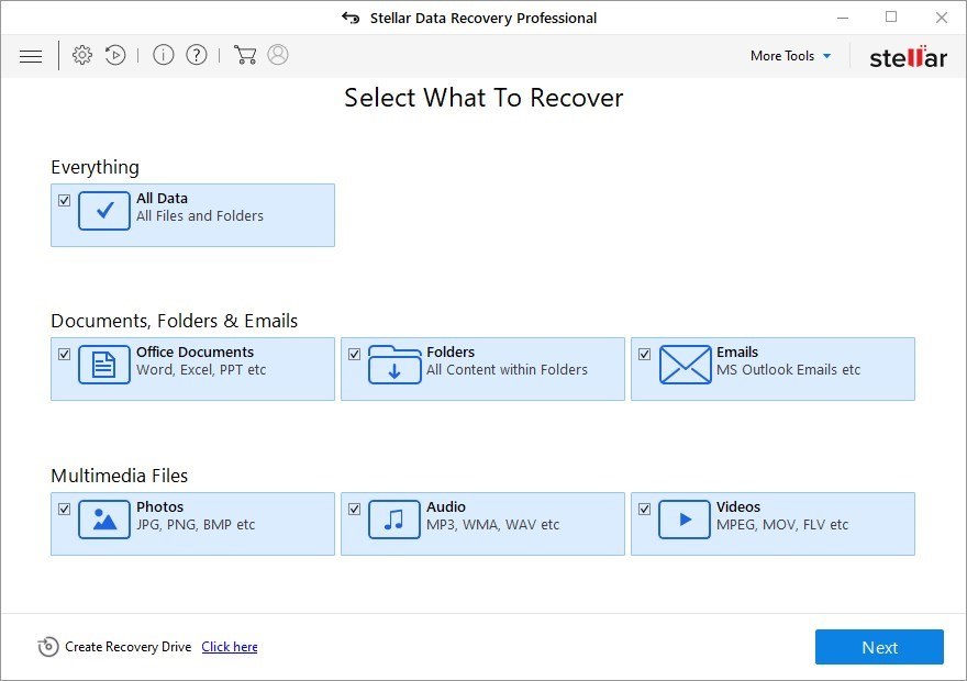 uch as MP4, MOV, WMV, MKV, etc. It can swiftly recover lost video footage from HDDs, SSDs, USB drives, or SD cards.